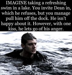 Dean: Hey, I have fun! You: What, screwing at least one girl per case? Jump in. Supernatural Fanfiction, Supernatural Fan Art, Supernatural Imagines, Supernatural Wallpaper, Winchester Supernatural, Dean Winchester Hot, Winchester Brothers, Dean Winchester Imagines, Sherlock Quotes