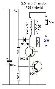 the same time, some of the energy is passed to the inductor so that the LEDs are not damaged. When the transistor is turned off, the energy from the inductor also gives a pulse of energy to Simple Electronics, Electronics Basics, Hobby Electronics, Electronics Components, Electronics Projects, Basic Electronic Circuits, Electronic Schematics, Electronic Engineering, Electrical Engineering