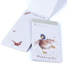 Wrendale Designs Duck Magnetic Shopping Pad with the A Waddle and a Quack design is ideal to connect to your fridge ready to add those next needed essential items. http://www.a-choice-of-gifts.co.uk/giftshop/prod_3722007-Wrendale-Designs-Duck-Magnetic-Shopping-Pad.html
