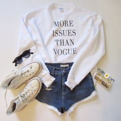 ♕ like the outfit but the short is a bit shorty shorty for me
