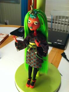 """As requested, I've whipped up a two-cents tutorial for how I made my first custom MH doll, Quin Qilin. I started with a concept sketch--well, several, but this is the one that I eventually decided on. I started with a """"Day at the Maul"""" Draculaura, because she was a) cheap and b) had…"""
