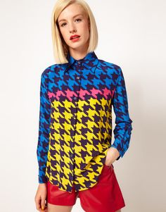 Silk Houndstooth Shirt from House of Holland