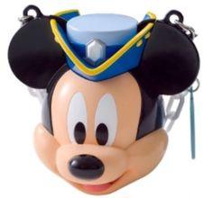 "JDS Japan Tokyo Disney Sea 2017 Mickey Candy Bucket 3.5"" Chain Popcorn #JapanTokyoDisneySea"