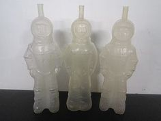 Space Men Plastic Drink Bottles from the 70's.