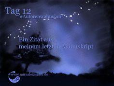 Tag 12 - Ein Zitat aus meinem letzten Manuskript von Mira Alexander, http://www.miraalexander.de #Autorenwahnsinn . Diese Digitalzeichnung zeigt den Nachthimmel.
