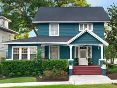 Sherwin Williams Deep sea Dive  Curb Appeal Ideas from Jacksonville, Florida   Landscaping Ideas and Hardscape Design   HGTV