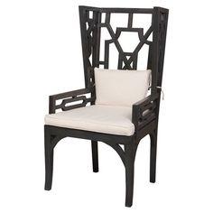 openwork back chair