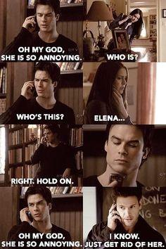 OMG LOL Damon  Alaric (The Vampire DIaries) are Mean Girls.