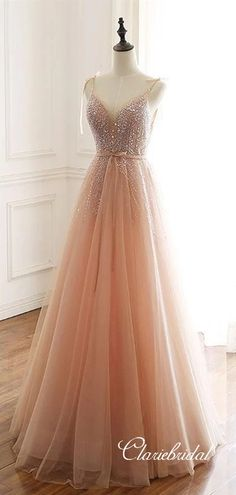 Champagne tulle lace long prom dress, champagne evening dress with · Sweet Bridal · Online Store Powered by Storenvy Source by dresses elegant Pretty Prom Dresses, Elegant Prom Dresses, Sexy Dresses, Cute Dresses, Homecoming Dresses, Beautiful Dresses, Evening Dresses, Formal Dresses, Summer Dresses