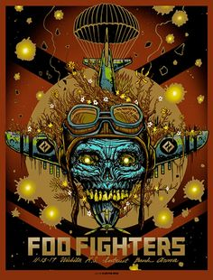 Rare Mini Print/Poster - Size: A4 (Approximately: 21 cm x 29.7 cm) 8.27 inches x 11.7 inches. Foo Fighters, Concert Posters, Poster Prints, The Unit, Mini, Gig Poster