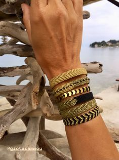 High Quality Bracelets and more by GiotaRammouJewelry Macrame Bracelet Diy, Bracelet Knots, Beaded Bracelet Patterns, Bracelet Crafts, Macrame Jewelry, Fabric Bracelets, Thread Bracelets, Woven Bracelets, Fashion Bracelets