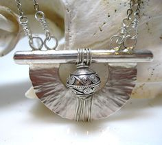 Large Sterling Fan Pendant