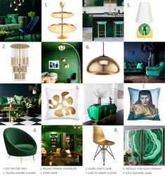 Robert Thomson: Razzle and Dazzle with Emerald Green and Gold! Gold Office Decor, Gold Bedroom Decor, Entryway Decor, Colorful Decor, Colorful Interiors, Emerald Green, Green And Gold, Green Master Bedroom, Home Spa Room