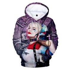 New Movie Joker and Harley Quinn Hoodies Classic Jared Leto and Maegot Robbie Couples Hoodie sweatshirt Hip Hop Boys Outwear - Kenzi- Shop more, live better Funny Animal Images, Animals Images, Funny Animals, Off White Hoodie, Blue Hoodie, Cheap Hoodies, Comfy Hoodies, Jared Leto, Joker Y Harley Quinn