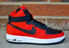 premium selection 940f3 9db3e Nike Air Force 1 High - University Red - Black - SneakerNews.com