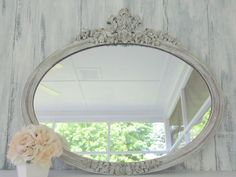antique Mirror by bear glass