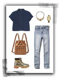 """""""Street Style #25"""" by niki1038 ❤ liked on Polyvore featuring Monki, Abercrombie & Fitch, Caterpillar, FOSSIL, Marc by Marc Jacobs and Tommy Hilfiger"""