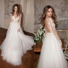 Mooie prinsessen trouwjurk met lijfje van kant & organza rok