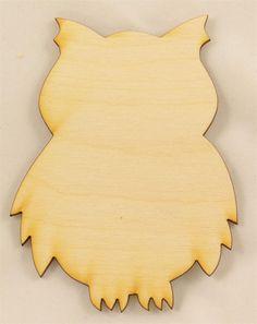 Owl Wood Cutout | Unfinished Wood Cutouts and Shapes | Animal Cutouts
