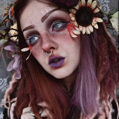 Magical pixie is perfection . Nose ring - Naughty Bites Magical pixie is perfection . Septum Ring, Septum Jewelry, Body Jewelry, Piercing Ring, Cartilage Piercings, Piercing Ideas, Makeup Art, Eye Makeup, Hair Makeup