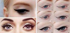 Winged eyeliner guide