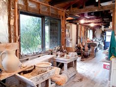 gooseneck pottery - studio by birds & trees, via Flickr If only I could…