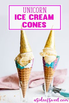 How to Make Unicorn Ice Cream Cones - Galaxy Unicorn Themed Birthday Party Ideas Kids #Unicorn Chocolate Dipped Colorful Dessert Recipe #Recipe