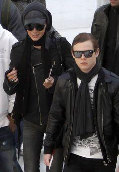 Bill Kaulitz and Georg Listing - Tokio Hotel at Nice Airport