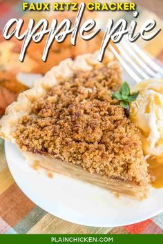 Ritz Cracker Apple Pie Recipe, Ritz Cracker Dessert, Ritz Cracker Recipes, Apple Pie Recipes, Unique Recipes, Sweet Recipes, Vintage Recipes, Easy Recipes, Healthy Recipes