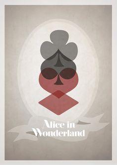 Диснеевские плакаты в стиле минимализма
