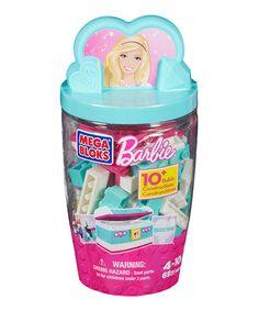 Love this Aqua Barbie Building Block Set by Barbie on #zulily! #zulilyfinds