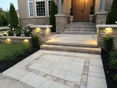 Landscape design and construction with Imperial Stone And Design House Landscape, Landscape Design, Backyard, Patio, Front Entrances, What You Can Do, Curb Appeal, Color Schemes, This Is Us