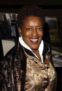 CCH Pounder (Carol Christine Hilaria)  just received one of our Swarovski Crystal Rings at the GBK Oscars Gift Lounge!  www.trinketsnwhatnots.etsy.com