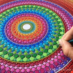 Mandala making! Here is some colour to brighten your day ☺️ #mandala #elspethmclean #dotillism
