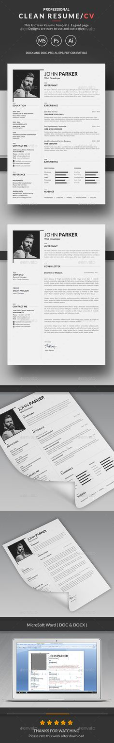 #Resume - #Resumes Stationery Download here: https://graphicriver.net/item/resume/20364141?ref=alena994