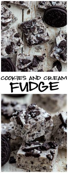 Cookies and Cream fudge is packed with oreos and so creamy and delicious! No thermometer required!