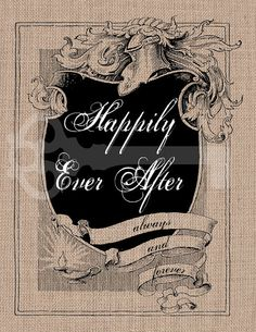 Happily ever after frame Digital Download Image by TanglesGraphics, $1.00