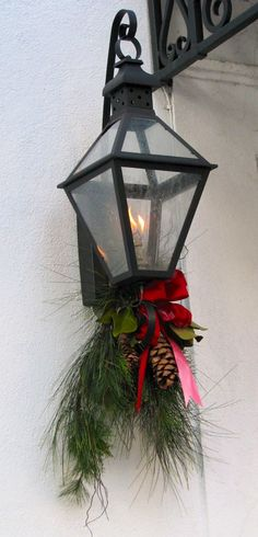 Gas lantern--love this at christmaz