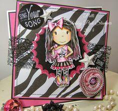 The Paper Nest: Pop Star Ellie #shabbypinkstamper #copics