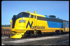 ONR FP-7 1987 (Photographer: J. L. Hunt). Railroad Pictures, Business And Economics, Train Pictures, Electric Train, Train Journey, Diesel Locomotive, Train Travel, Wyoming, Ontario