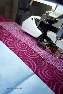 Anna Orduña - Mi Rincón de Patchwork: Tutorial: Bies simple para Quilts rectos Home Appliances, Sewing, Tips, Ideas, Scrappy Quilts, Purse, Bedspreads, Photos, House Appliances