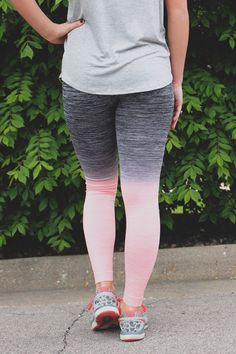 Peach Ombre Active Leggings – UOIOnline.com: Women's Clothing Boutique