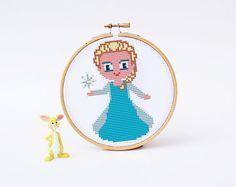 ELSA FROZEN Cross stitch Pattern PDF   Boy Girl cross di POWSTITCH