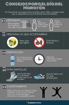Consejos para el día del Maratón #infografia