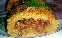 Recipe Rolls of potatoes with meat