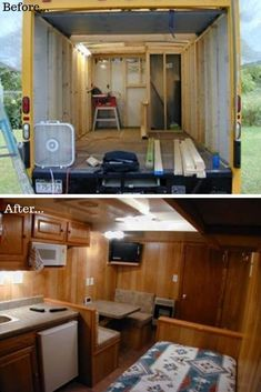 Check out the most inspirational Box Truck Conversions you'll find online. Get ideas on how to convert your truck and plan your own camper build. Enclosed Trailer Camper, Small Camper Trailers, Cargo Trailer Camper, Camper Trailer For Sale, Box Trailer, Truck Camper, Camping Trailers, Camper Life, Van Conversion Interior