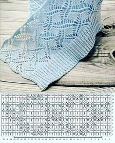 Loom Knitting Stitches, Lace Knitting Patterns, Knitting Charts, Knitting Designs, Baby Knitting, Lidia Crochet Tricot, Knit Crochet, Top Cropped, Crafts