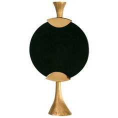 """Bronze and Glass """"Moon"""" Candlestick by Aldus 