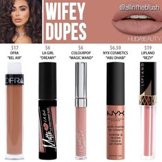 "@allintheblush) on Insta: "" HUFA WIFEY DUPESWhat @hudabeauty shade do you want to see duped next? Let me know in the comments!…"""