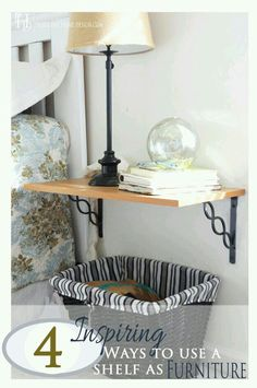 shelf as nightstand